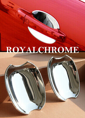 US Stock x2 ROYAL CHROME Door Handle Insert Bucket Cover for JAGUAR 06-10 XK XKR