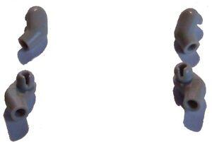 Lego-4x-Arm-Arme-Armpaare-hellgrau-light-bluish-gray-fuer-Minifiguren-Neu