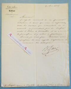 Lettre-1836-Baron-Agathon-FAIN-Travaux-Palais-Versailles-Royer-maire-Chantilly
