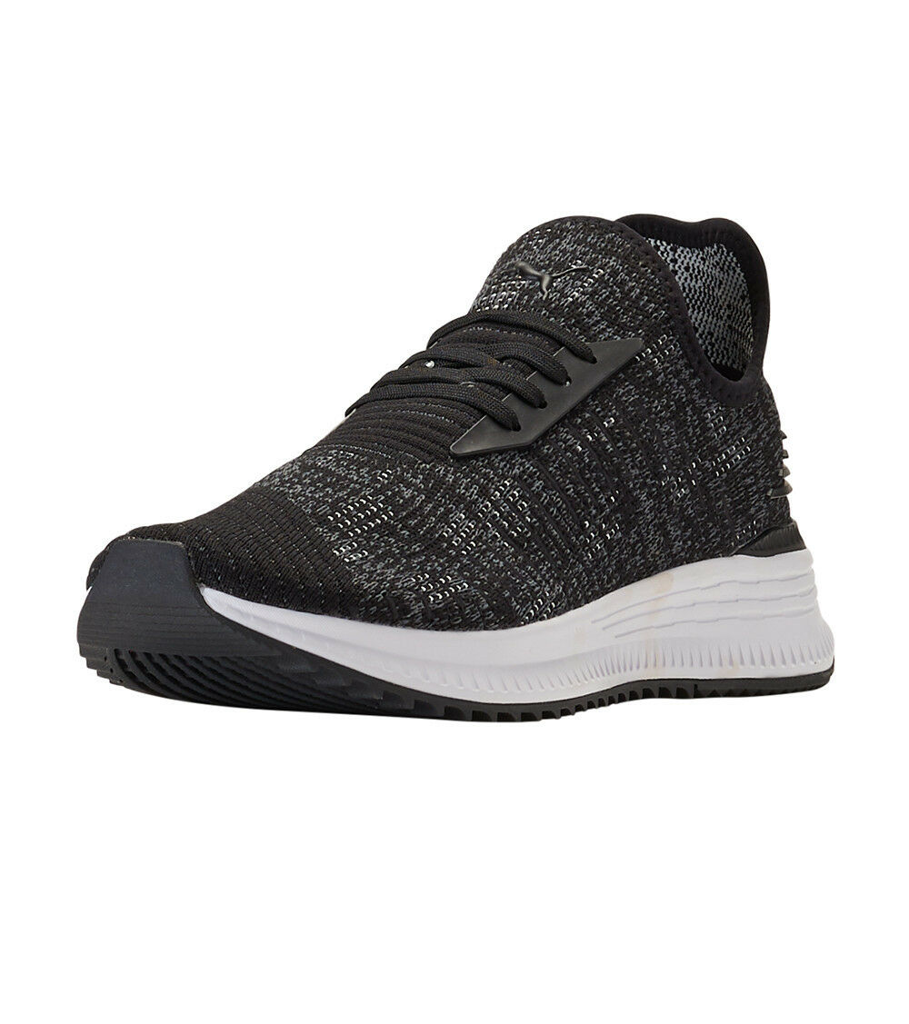Puma Avid evoKNIT Mosaic evo Knit Running shoes Black   White Sz 11 366601 02