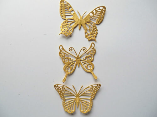 102 Beautiful Filigree Die cut Butterfly/'s mixed colours 3.5cm x 2.5cm
