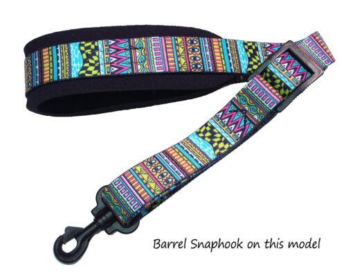 Saxophone Sax strap Neoprene padded Sax Strap in colorful designs by Legacystrap