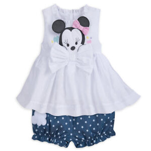 cae622df8 DISNEY STORE MINNIE MOUSE LAYETTE BLOOMER SET FOR BABY DIMENSIONAL ...
