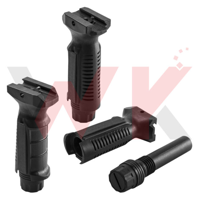 Tactical Vertical Grip Storage Ergonomics Foregrip Picatinny Weaver Rail Polymer