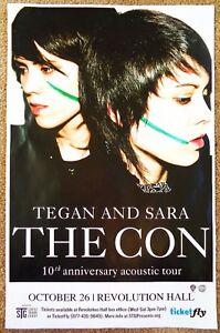 TEGAN-AND-SARA-2017-Gig-POSTER-Portland-Oregon-Concert-The-Con-10th-Anniversary