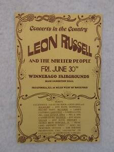 Vintage-LEON-RUSSELL-Concerts-in-the-Country-Flyer-June-30-1971-Pecatonica-IL