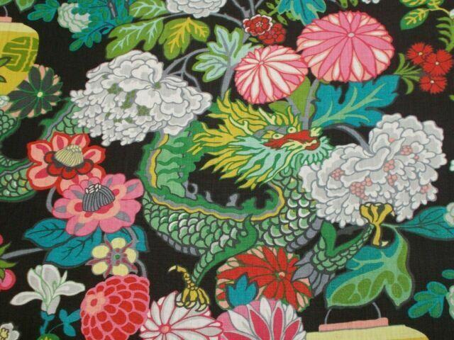 Schumacher 173275 Chiang Mai Dragon Fabric Ebony For Sale Online