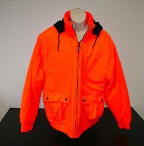 bc11c08795e88 Outfitters Ridge Mens Large Fleece Jacket Coat Blaze Orange Hunting ...