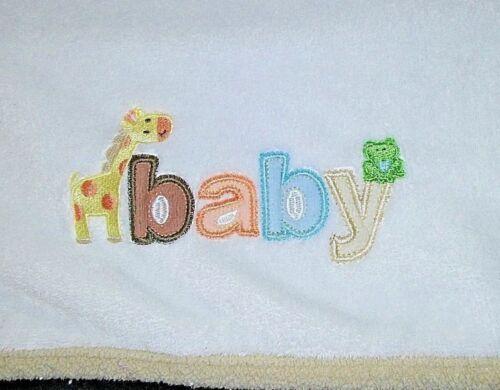 Carter/'s JUST ONE YOU Unisex BABY Blanket Tan Giraffe Frog Soft Lovey Beige EUC