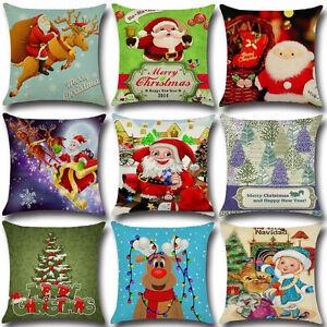 1PC-Merry-Christmas-Printing-Linen-Pillow-Case-Santa-Claus-Throw-Pillow-Cover