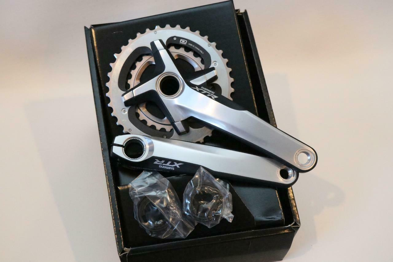 Nuevo Shimano XTR FC-M980 Bielas Bicicleta de montaña velocidad 2x10 38-26T 175mm con soporte inferior Plata Doble