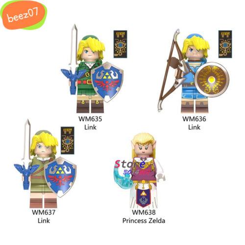Single Building Blocks Cartoon The Legend of Zelda Link Game Figures Weapon