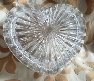 Beautiful Vintage Cut Glass Heart Trinket Box Vanity Across Valentine's Day
