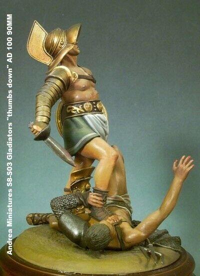 Andrea Miniatures classics series S8-S03 Gladiators  thumbs down  AD 100 90MM