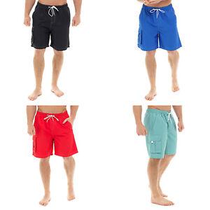Para-Hombre-Pantalones-Cortos-de-Natacion-Vacaciones-Playa-Piscina-bolsillo-de-carga-Caballeros-Surf