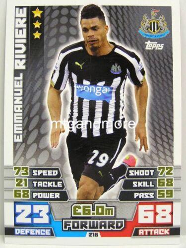 Match ATTAX 2014//15 premier League #216 Emmanuel riviere-Newcastle united