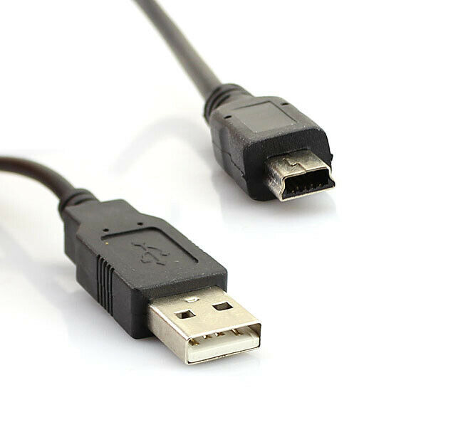 1m,2m,3m Long MINI USB Cable Sync & Charge Lead Type A to 5 Pin B Phone Charger