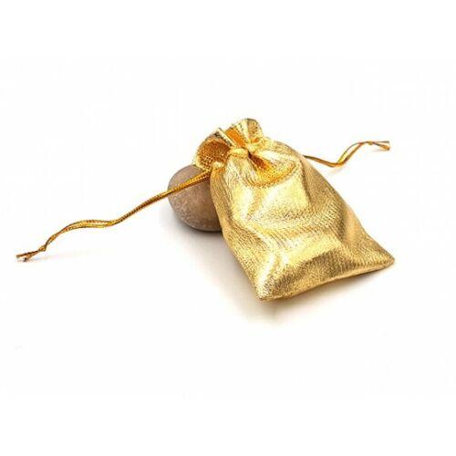 20 Sachets pochettes emballages dorés 9x7cm Neuf