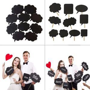 10pcs-Photo-Booth-Accessoire-A-faire-soi-meme-bulle-discours-Chalk-Board-Fete-De-Mariage