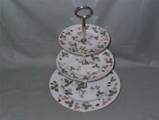Wedgwood Wild Strawberry Bone China 3-Tier Hostess Cake Plate Stand