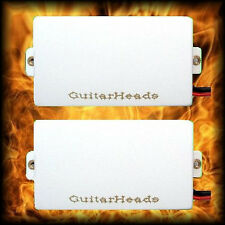 Guitar Pickups - GUITARHEADS ACTIVE HUMBUCKERS - Set of 2 - WHITE