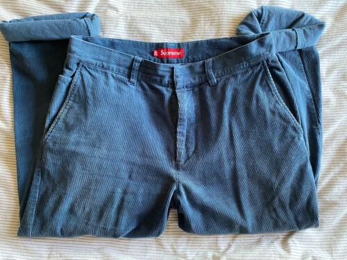 Vintage Supreme Corduroy Pants Mens Blue (Size 32)