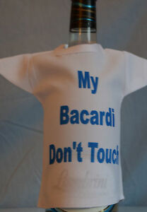 Miniature-Bottle-T-Shirt-ideal-fun-gift-for-Birthdays-My-Bacardi-Dont-Touch
