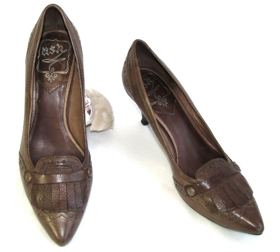 ASH shoes talons 6 cm tout cuir brown 35 TRES BON ETAT