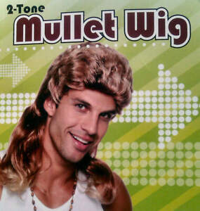 Mullet Wig Redneck Hill Billy 80s 90s Boy Band Country Pop Star Costume Cosplay