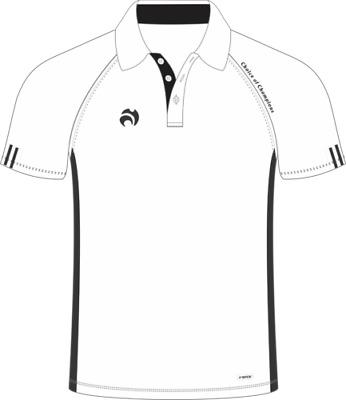 White polo shirt Crown Green Lawn Bowls Bowling shirts  with Logo