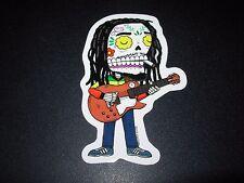 BOB MARLEY calavera MUERTO Art Sticker Print DIA DE LOS JOSE PULIDO