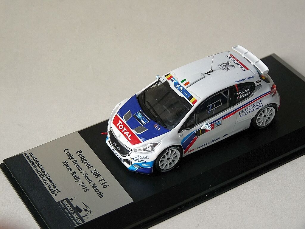 Craig Breen Peugeot 208 T16 R5 YPRES RALLY 2014 1 43 code 3 DIECAST MODEL