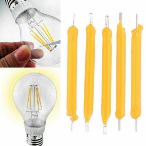 10Pcs Super Bright Strip Solar Filament LED Bulb Source Lighting Home DIY Tool