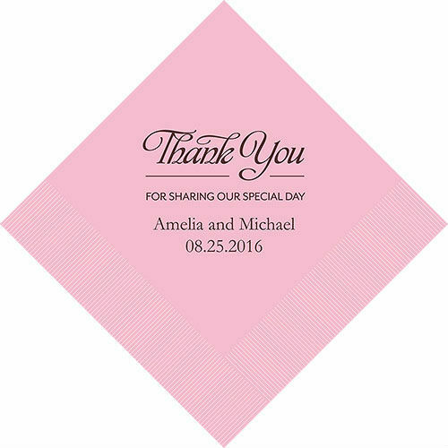 300 Thank You For Sharing Our Special Day Personalized Wedding Luncheon Napkins