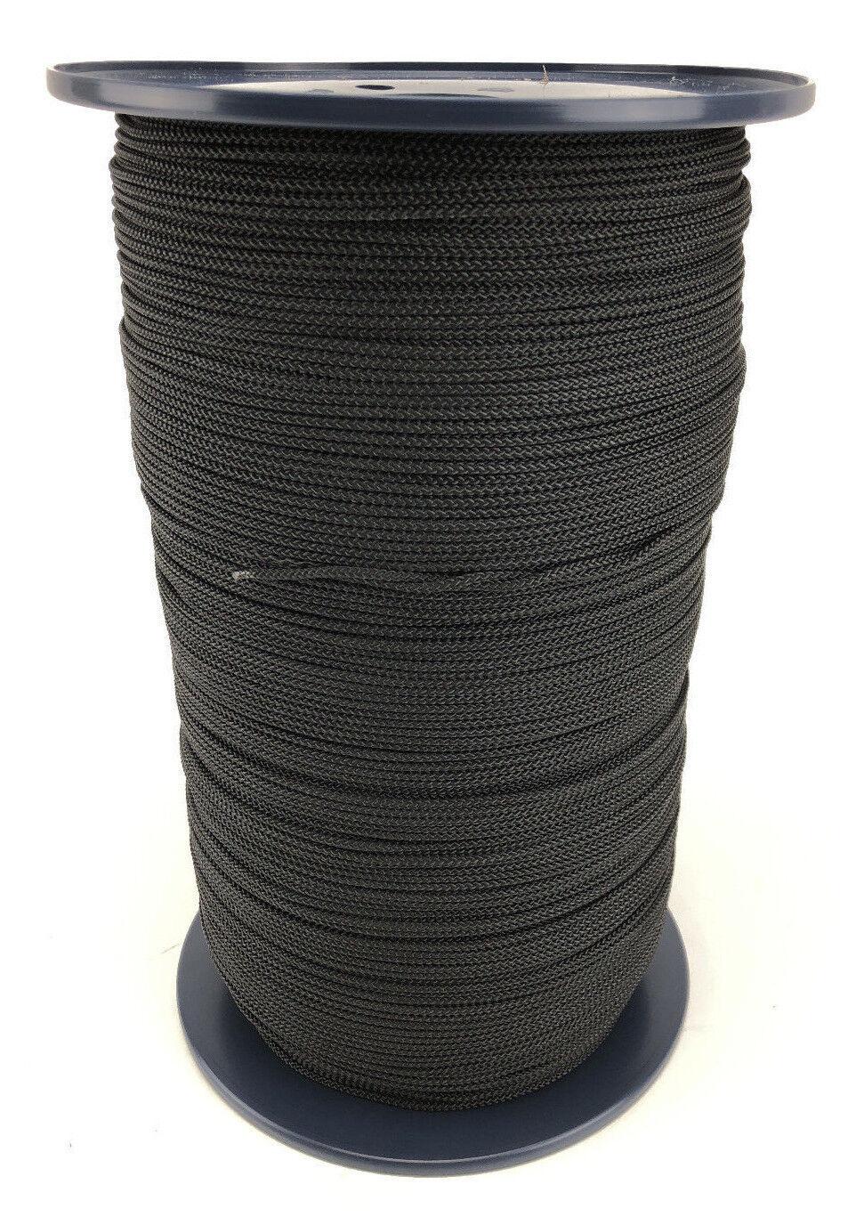 3mm Schwarze Polyester Schnur X 1000 Meter Rolle Marine Schmuck Nähen Kordelzug