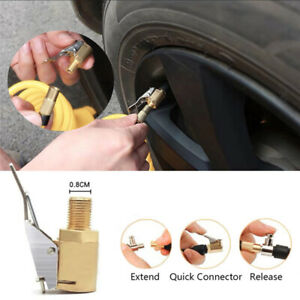 8mm-Tire-Valve-Air-Chuck-Connector-Tyre-Airline-Inflator-Brass-lock-on-Car-Truck