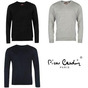16b548e9fa79e Pull PIERRE CARDIN Col V pour Homme Neuf Choix de Couleur   eBay