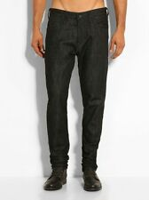 GUESS JEANS man uomo dark black regular pantalone trousers 31 leather штаныБрюки