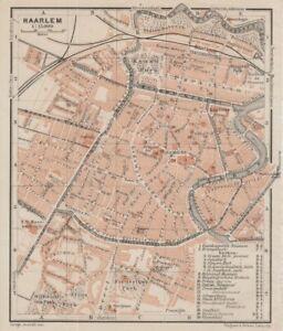 HAARLEM NIEDERLANDE 1905 alte historische Landkarte Stadtplan map | eBay