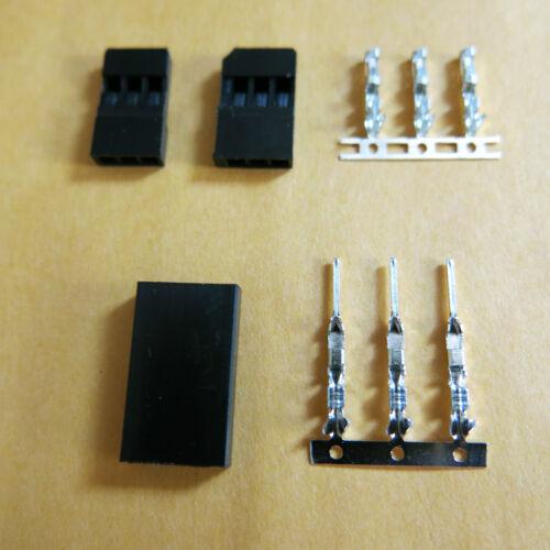 50//100Sets Stecker-Buchsen Gehäusen mit Stiftkontakten Set JR Futaba Servo Kabel