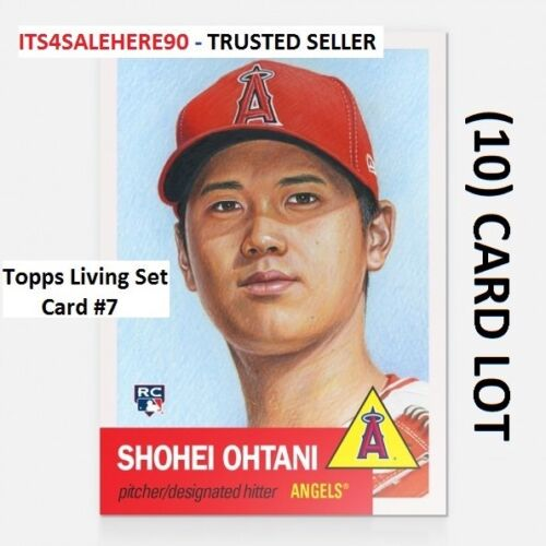 LOT OF 2018 Topps Now Living SHOHEI OHTANI Angels ROOKIE RC Card #7 10