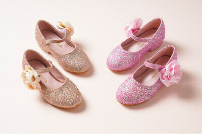 Toddler//Little Kid Girl Floral Mary Jane Elastic Strap Ballerina Flat Shoes