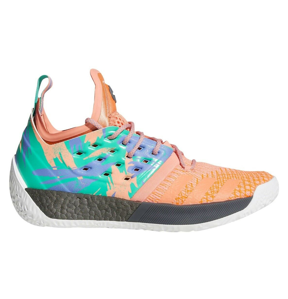 Adidas Harden Vol. 2 California Dreamin Mens AH2219 Coral Boost Shoes Size 10