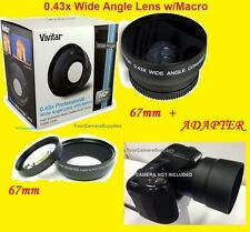 0.43x Wide Angle LENS 67mm+ ADAPTER FOR CAMERA NIKON COOLPIX L330 67 mm