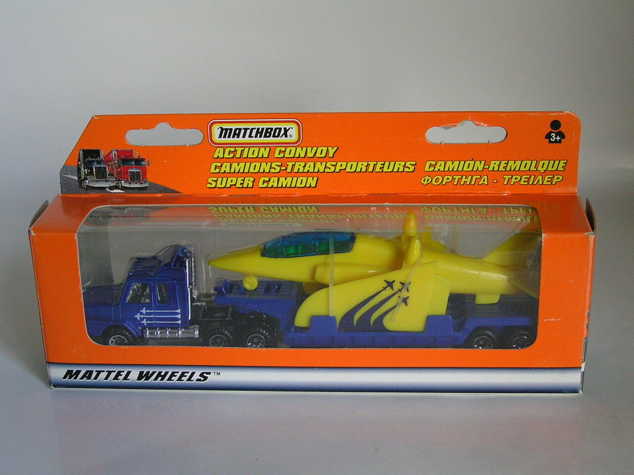 MATCHBOX CONVOY SCANIA avion T-142 avion Transporteur Camion rare allemand Comme neuf IN BOX