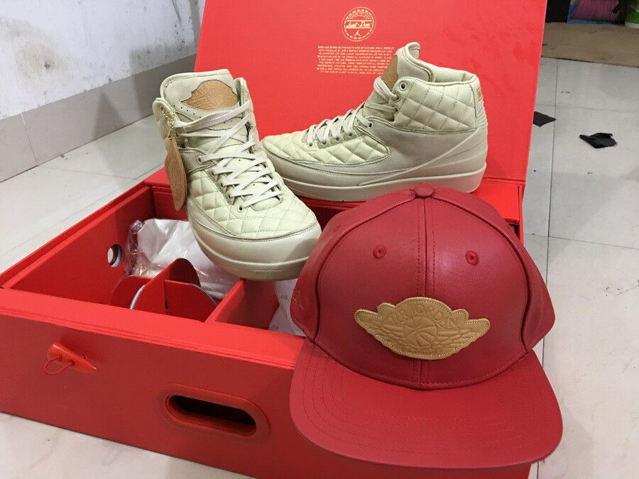 Nike Air Jordan 2 Retro Just Don C Beach 834825-250 US 12 13 bluee Red Hat II