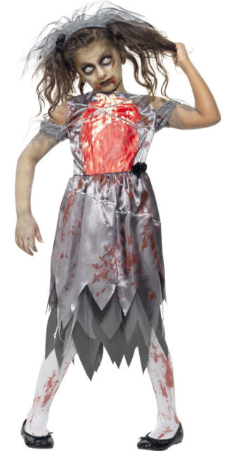 Girls Zombie Bride Costume Halloween Fancy Dress Undead Age 10,12  5020570954256