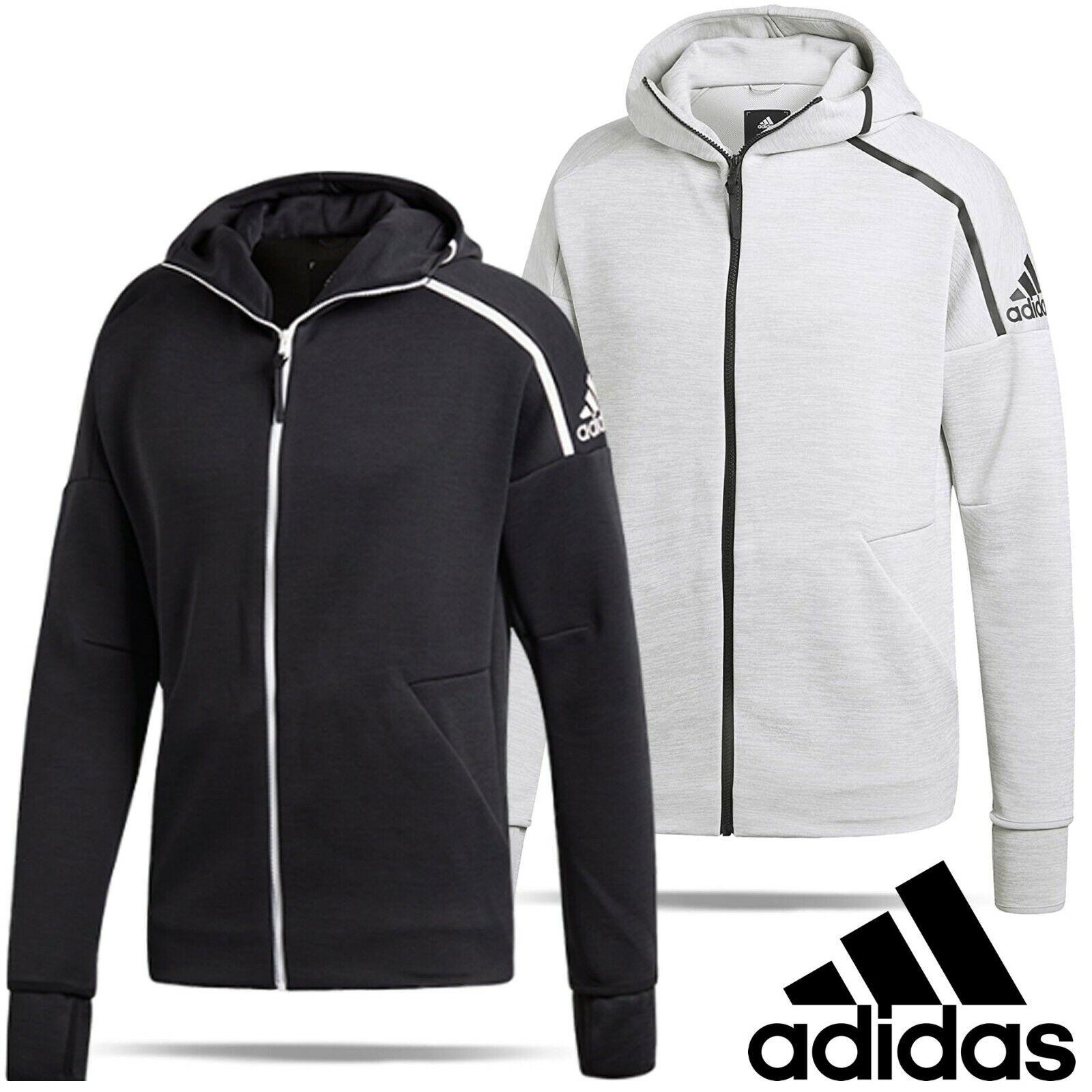 ADIDAS Trainingsjacke mit Kapuze in Grau Schwarz online