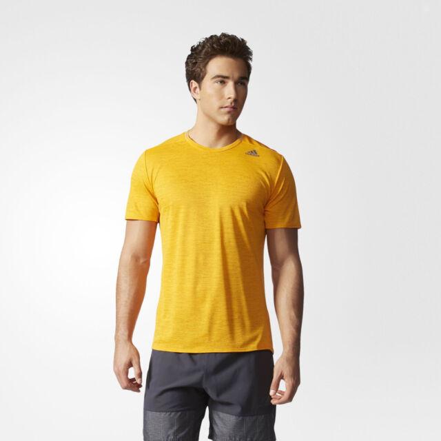 Adidas Supernova Herren Kurzarm T-Shirt Laufshirt Sportshirt Jogging Top Gelb