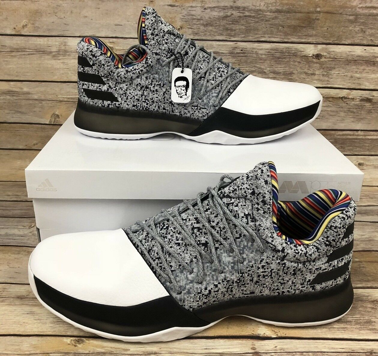 Adidas Harden Vol 1 BHM Arthur Ashe Edition BY3473 Comfortable